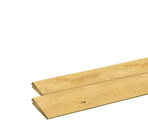 <BIG><B>Zweeds vuren rabat, 1 zijde geschaafd, 1 zijde fijnbezaagd, 1,5-3 x 19,5 x 300 cm</B></BIG>
