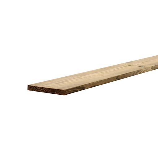 <BIG><B>Grenen geschaafde plank 2,0 x 20 x 180 cm, recht, groen ge&iuml;mpregneerd.</B></BIG>