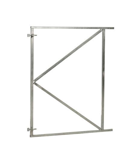 <BIG> <B> Cadre de portail en acier r&eacute;glable galvanis&eacute; &agrave; chaud 150 x 155 cm. </B> </BIG>