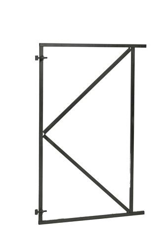 <BIG> <B> Cadre de portail en acier r&eacute;glable noir 100 x 155 cm. </B> </BIG>