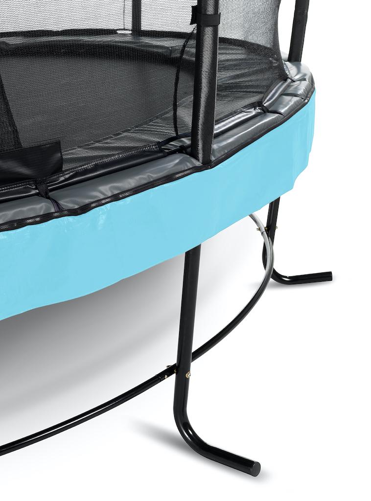 EXIT Trampoline Elegant Premium Ø253cm avec filet de sécurité Deluxe - bleu