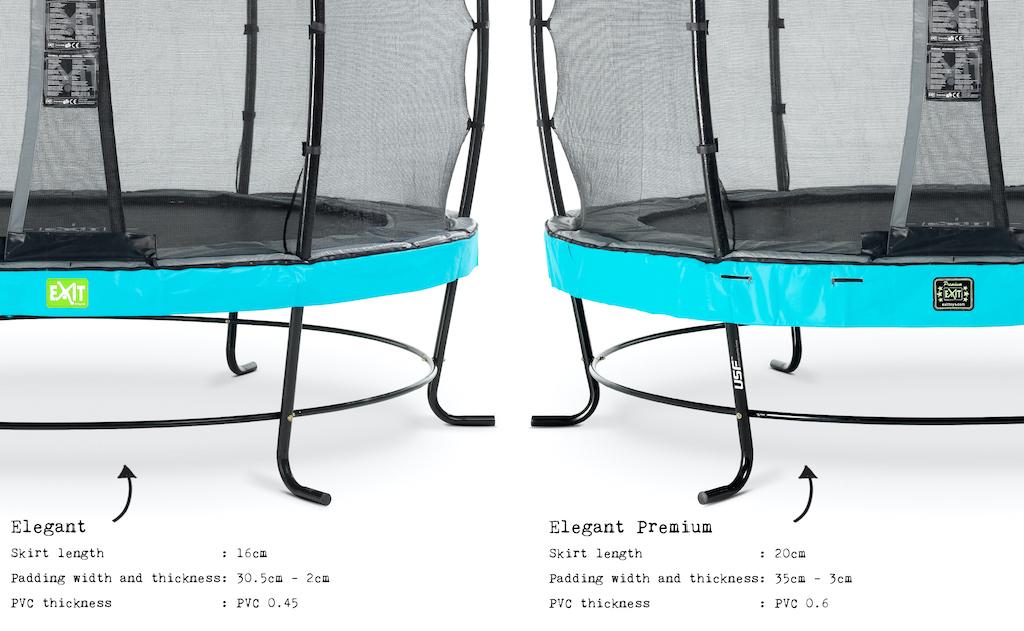 EXIT Elegant Premium trampoline ø253cm met Deluxe veiligheidsnet- blauw