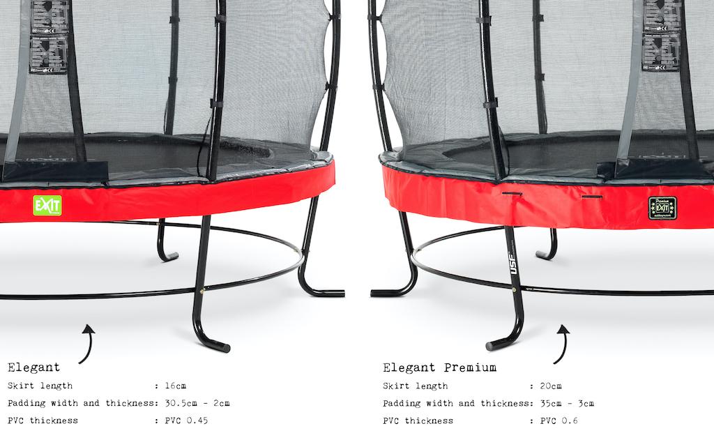 EXIT Elegant Premium trampoline ø253cm met Deluxe veiligheidsnet- rood