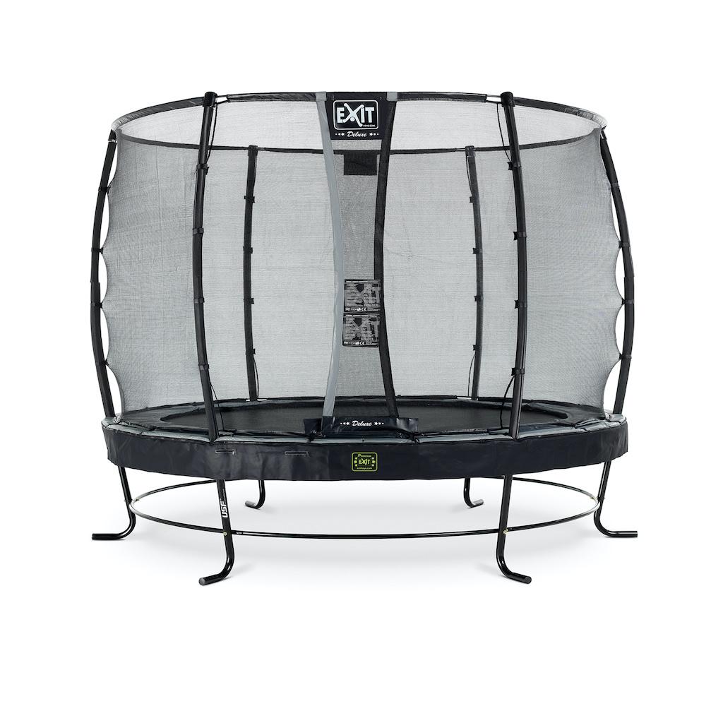 EXIT Trampoline Elegant Premium Ø305cm avec filet de sécurité Deluxe - noir