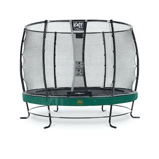 EXIT Elegant Premium trampoline ø305cm met Deluxe veiligheidsnet- groen
