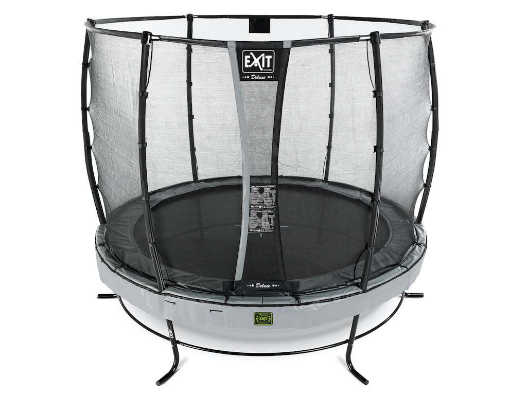 EXIT Elegant Premium trampoline ø305cm met Deluxe veiligheidsnet- grijs