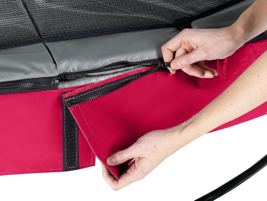 EXIT Trampoline Elegant Premium Ø305cm avec filet de sécurité Deluxe - rouge