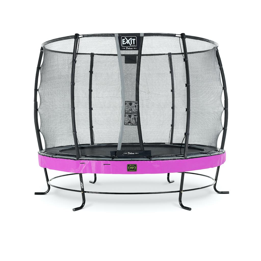 EXIT Elegant Premium trampoline ø305cm met Deluxe veiligheidsnet- paars