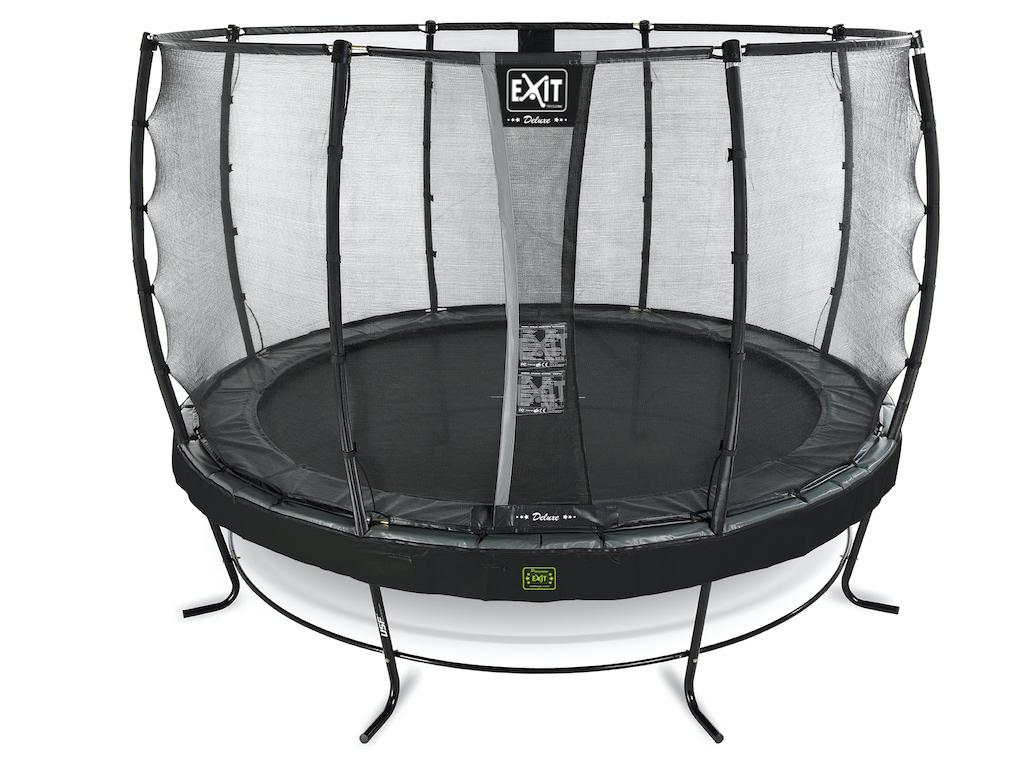 EXIT Elegant Premium trampoline ø366cm met Deluxe veiligheidsnet- zwart