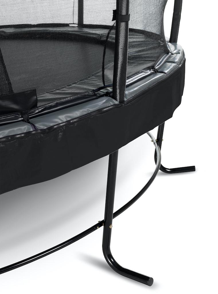 EXIT Trampoline Elegant Premium Ø366cm avec filet de sécurité Deluxe - noir