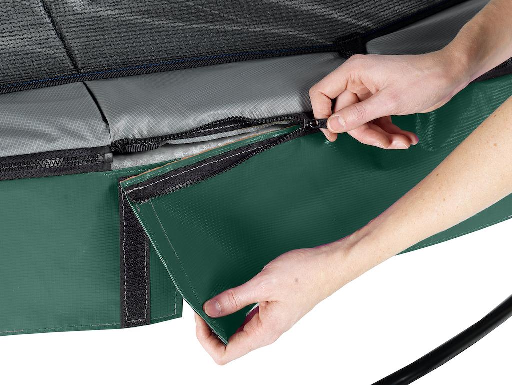 EXIT Elegant Premium trampoline ø366cm met Deluxe veiligheidsnet- groen
