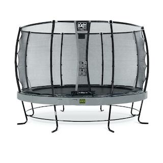 EXIT Elegant Premium trampoline ø366cm met Deluxe veiligheidsnet- grijs