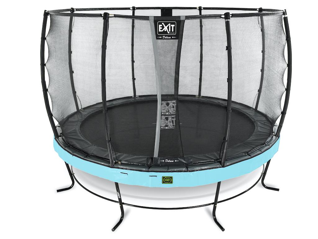 EXIT Elegant Premium trampoline ø366cm met Deluxe veiligheidsnet- blauw