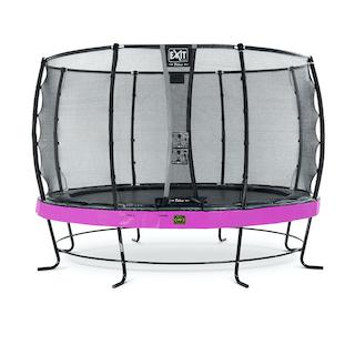 EXIT Elegant Premium trampoline ø366cm met Deluxe veiligheidsnet- paars