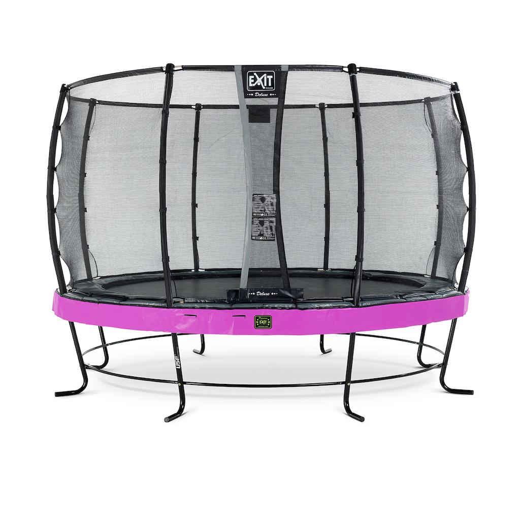 EXIT Trampoline Élégant Premium ø366cm avec filet de sécurité Deluxe violet