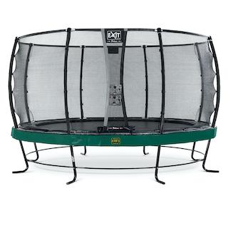 EXIT Elegant Premium trampoline ø427cm met Deluxe veiligheidsnet- groen