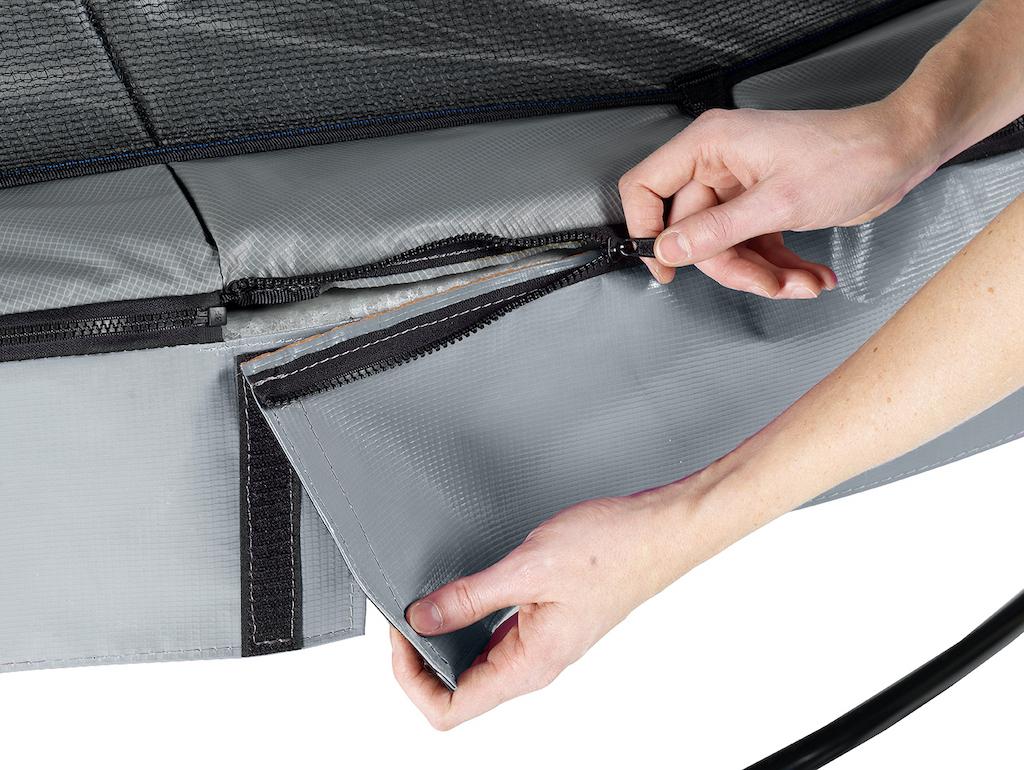 EXIT Elegant Premium trampoline ø427cm met Deluxe veiligheidsnet- grijs