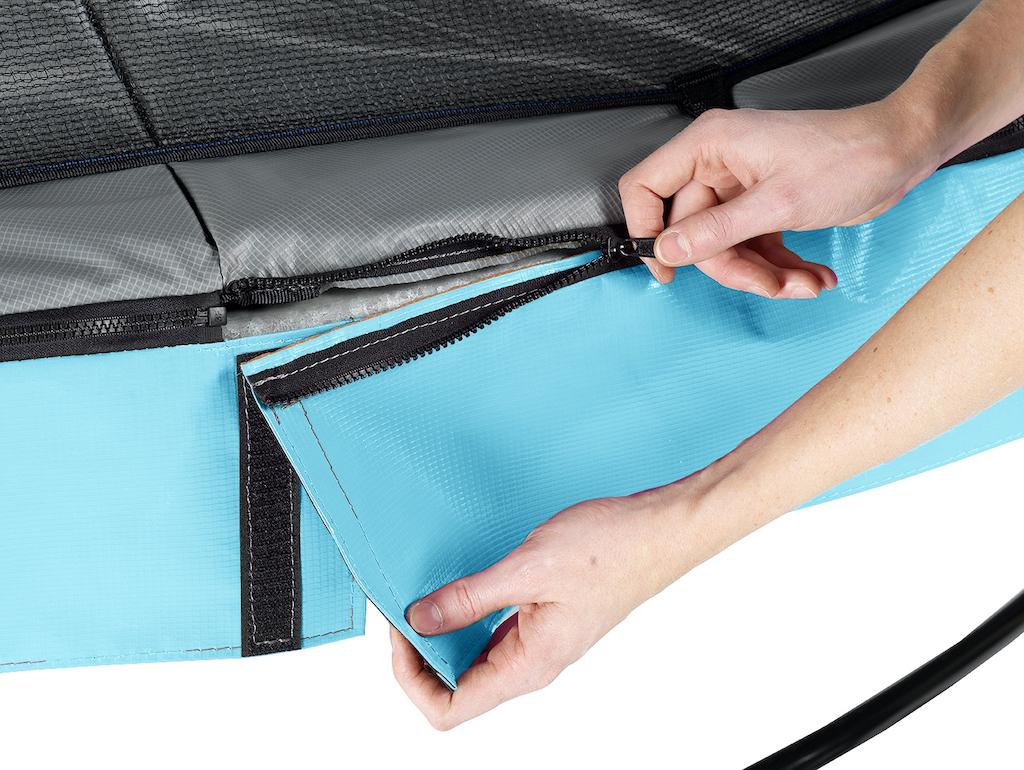 EXIT Elegant Premium trampoline ø427cm met Deluxe veiligheidsnet- blauw