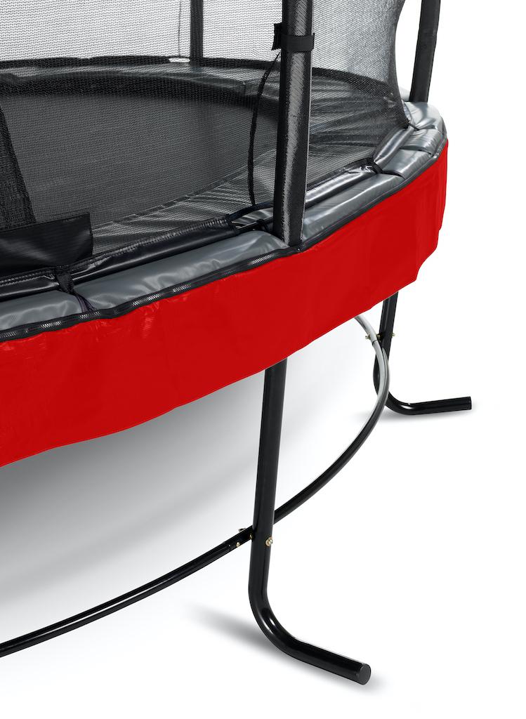 EXIT Elegant Premium trampoline ø427cm met Deluxe veiligheidsnet- rood