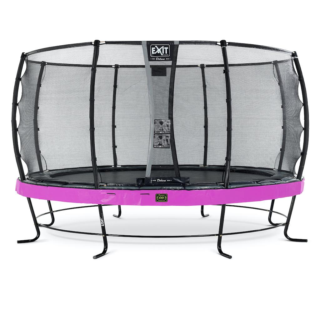 EXIT Elegant Premium trampoline ø427cm met Deluxe veiligheidsnet- paars
