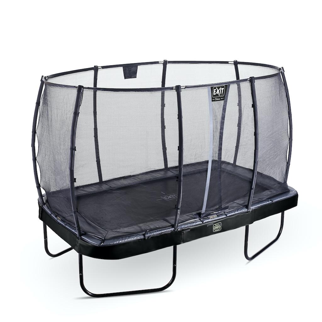 EXIT Elegant Premium trampoline 214x366cm met Deluxe veiligheidsnet- zwart