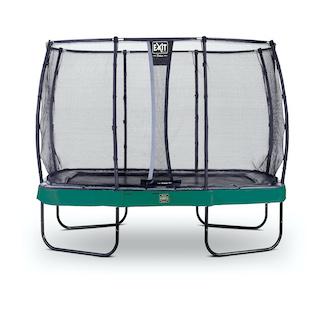 EXIT Elegant Premium trampoline 214x366cm met Deluxe veiligheidsnet- groen
