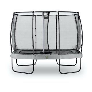 EXIT Elegant Premium trampoline 214x366cm met Deluxe veiligheidsnet- grijs