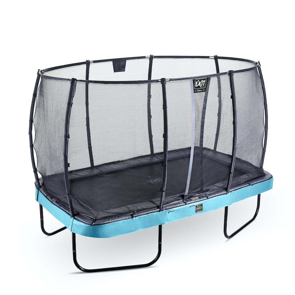 EXIT Elegant Premium trampoline 214x366cm met Deluxe veiligheidsnet- blauw