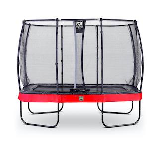 EXIT Elegant Premium trampoline 214x366cm met Deluxe veiligheidsnet- rood