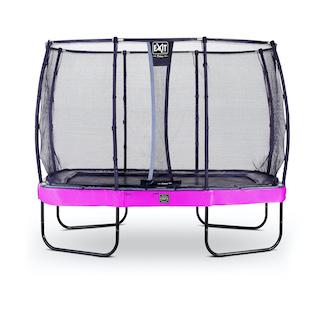 EXIT Elegant Premium trampoline 214x366cm met Deluxe veiligheidsnet- paars