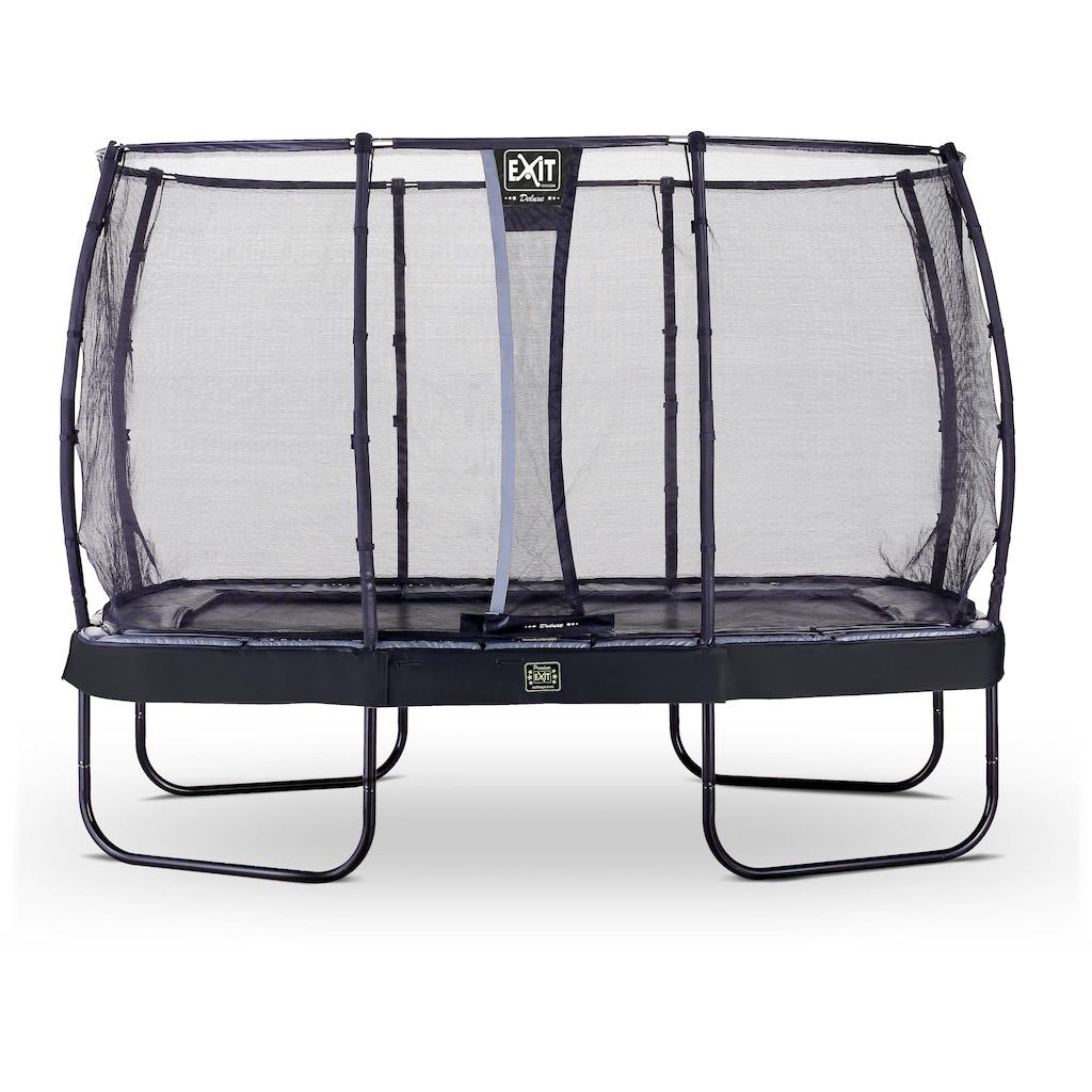 EXIT Elegant Premium trampoline 244x427cm met Deluxe veiligheidsnet- zwart