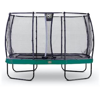 EXIT Elegant Premium trampoline 244x427cm met Deluxe veiligheidsnet- groen