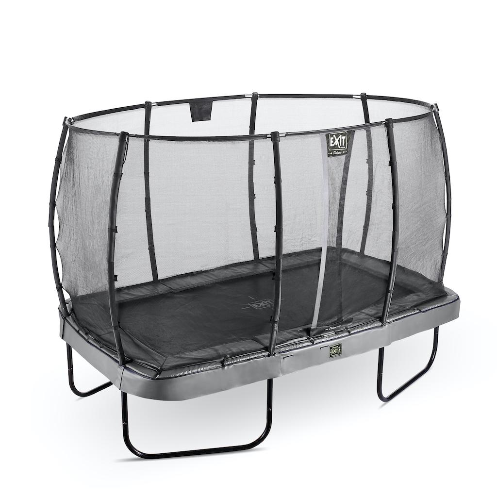 EXIT Elegant trampoline Premium 244x427cm avec filet de sécurité Deluxe - gris