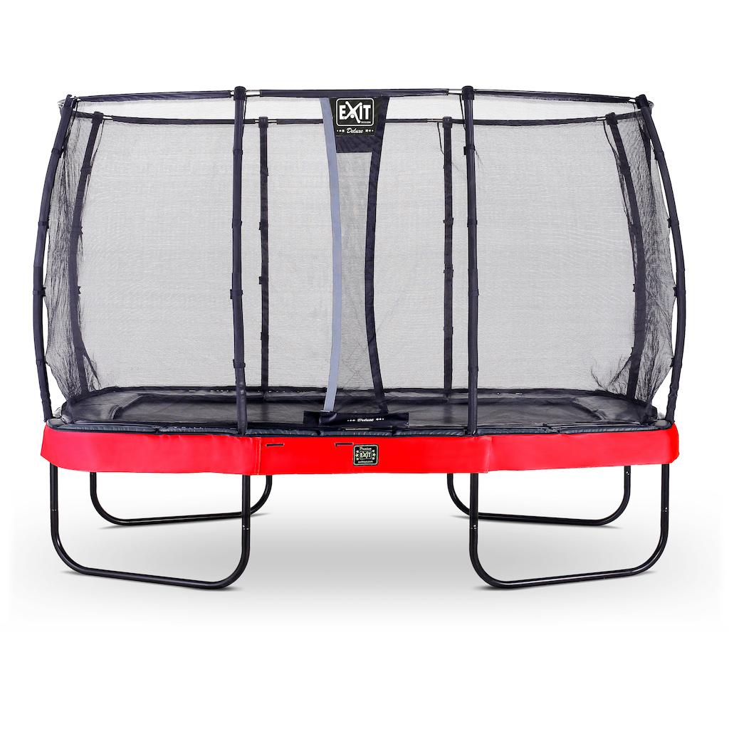 EXIT Elegant Premium trampoline 244x427cm met Deluxe veiligheidsnet- rood