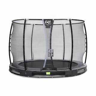 EXIT Elegant Premium inground trampoline ø305cm met Deluxe veiligheidsnet- zwart