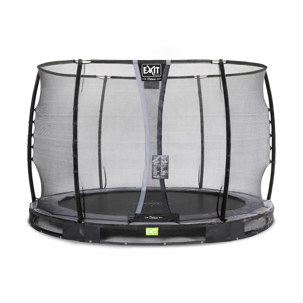 EXIT Trampoline de sol élégant Premium Ø305cm avec filet de sécurité Deluxe - noir