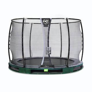 EXIT Elegant Premium inground trampoline ø305cm met Deluxe veiligheidsnet- groen