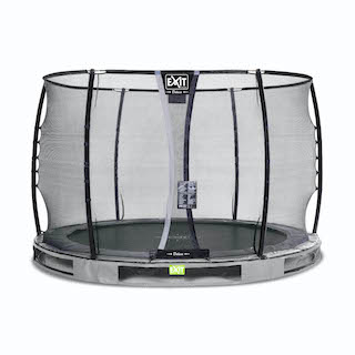 EXIT Elegant Premium inground trampoline ø305cm met Deluxe veiligheidsnet- grijs