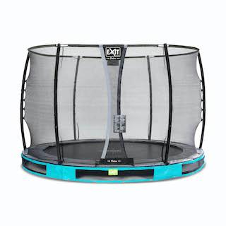 EXIT Elegant Premium inground trampoline ø305cm met Deluxe veiligheidsnet- blauw