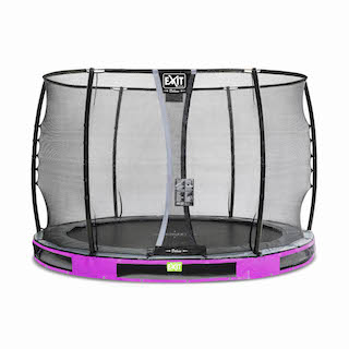 EXIT Elegant Premium inground trampoline ø305cm met Deluxe veiligheidsnet- paars