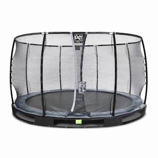 EXIT Elegant Premium inground trampoline ø366cm met Deluxe veiligheidsnet- zwart