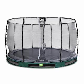 EXIT Elegant Premium inground trampoline ø366cm met Deluxe veiligheidsnet- groen