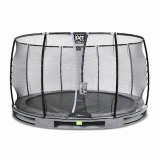 EXIT Elegant Premium inground trampoline ø366cm met Deluxe veiligheidsnet- grijs