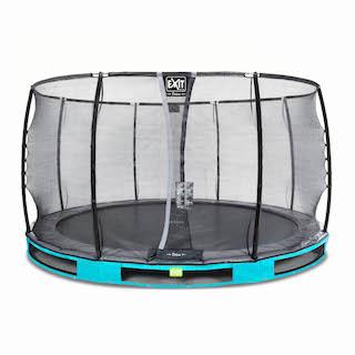EXIT Elegant Premium inground trampoline ø366cm met Deluxe veiligheidsnet- blauw