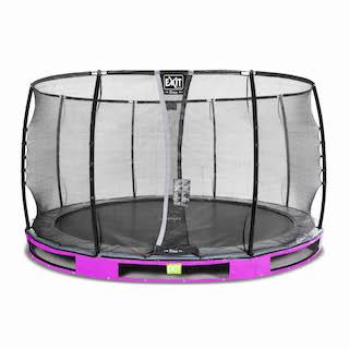 EXIT Elegant Premium inground trampoline ø366cm met Deluxe veiligheidsnet- paars