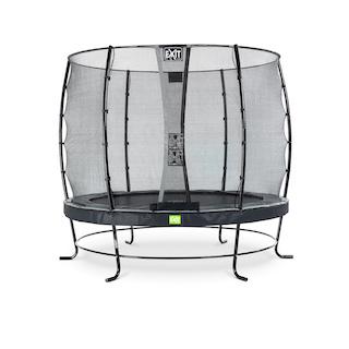EXIT Elegant trampoline ø253cm met Economy veiligheidsnet- zwart