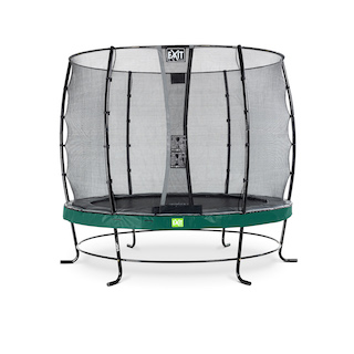EXIT Elegant trampoline ø253cm met Economy veiligheidsnet- groen