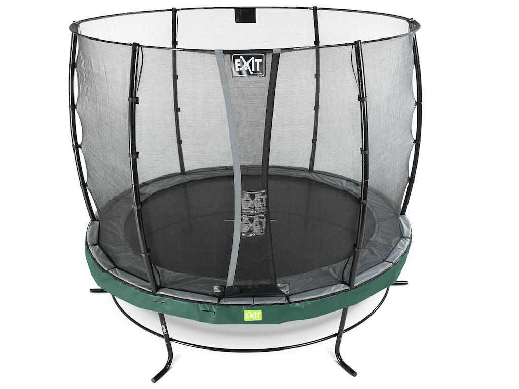 EXIT Trampoline élégant ø253cm avec filet de sécurité EcoNeemy - vert