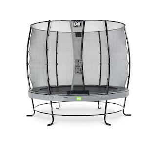EXIT Elegant trampoline ø253cm met Economy veiligheidsnet- grijs