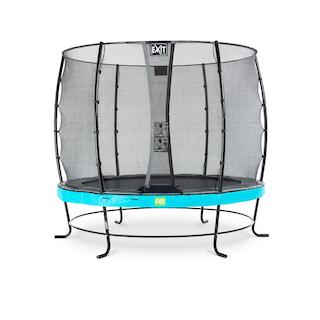 EXIT Elegant trampoline ø253cm met Economy veiligheidsnet- blauw